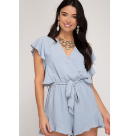Rompers 48 Summerize Misty Blue Ruffle Romper