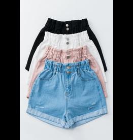 Shorts 58 Paper Bag High Waisted Denim Shorts