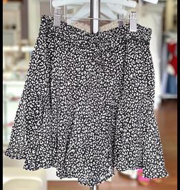Skirts 62 Love Of Summer Leopard Black/White Skort