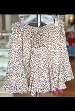 Skirts 62 Love of Summer Leopard Brown/White Skort