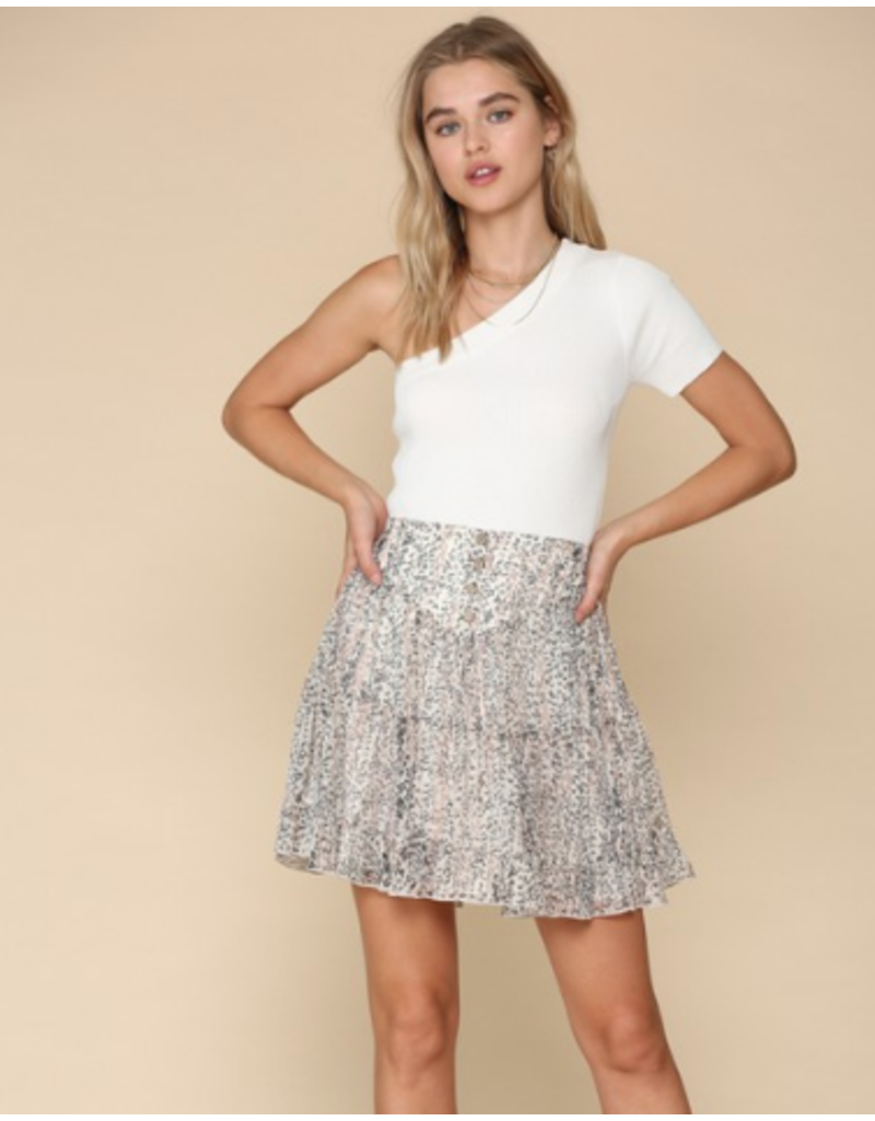 Skirts 62 Falling Ivory/Oiive Floral Button Front Skirt