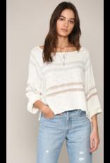 Tops 66 Now In Neutral Stripe Sweater