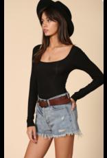 Tops 66 What's The Scoop Black Bodysuit
