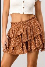 Skirts 62 Dots On Dots Brick Ruffle Skort