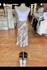 Skirts 62 Snakeprint Beige Ivory Midi Skirt