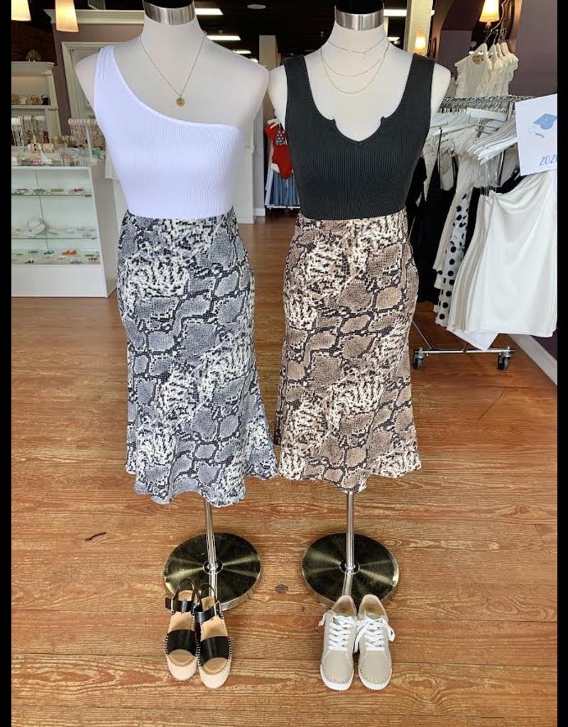 Skirts 62 Snake Print Midi Skirt
