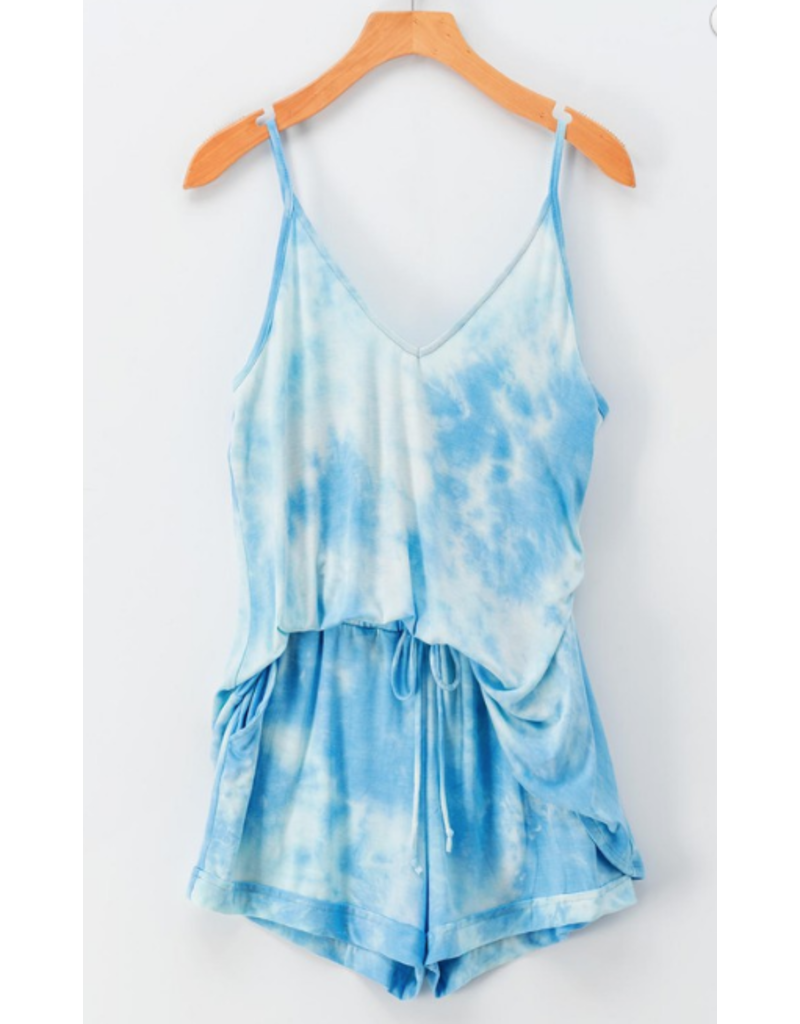 Shorts 58 Summer Tie Dye Blue/White Shorts