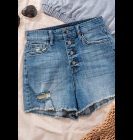 Shorts 58 Button It Up High Waist Denim Shorts