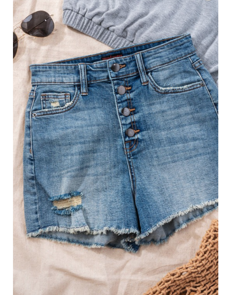 Shorts 58 Button It Up High Waist Denim Shorts