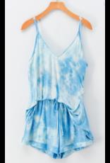 Tops 66 Tie Dye Summer Blue/White Tank