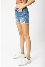 Shorts 58 KanCan High Rise Medium Wash Distressed Denim Shorts