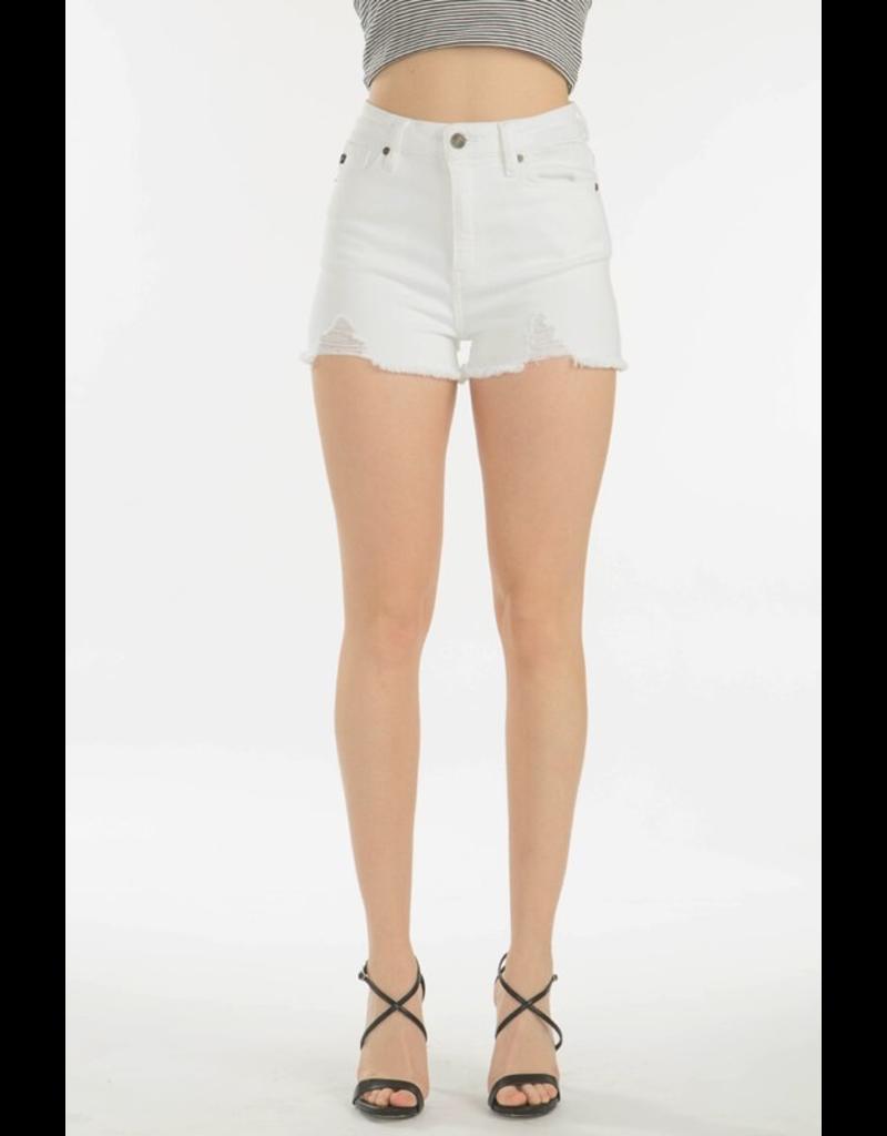 Shorts 58 KanCan High RIse Distressed White Denim Shorts