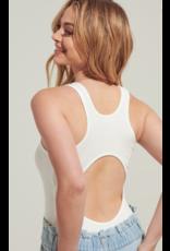 Tops 66 Open Back Ivory Bodysuit
