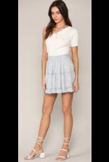 Skirts 62 Ruffle Fun Light Blue Pattern Skirt