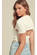 Tops 66 Open To It White Crop Top