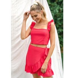 Tops 66 Red-y to Celebrate Ruffle Top