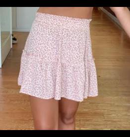 Skirts 62 Blushing Leopard Smocked Skirt