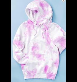 Tops 66 Lavender Tie Dye Hoodie