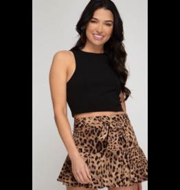 Skirts 62 Lots Of Leopard Brown/Black Skort