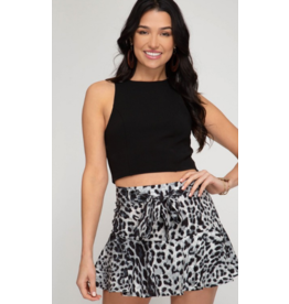 Skirts 62 Lots Of Leopard Grey/Black Skort