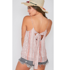 Tops 66 Fall With Me Rust Tie Back  Top