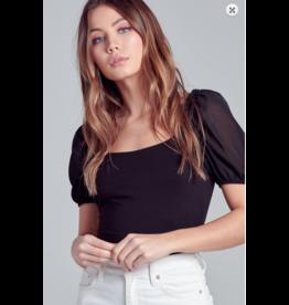 Tops 66 Puff Sleeve Bodysuit