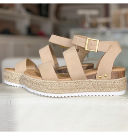 Shoes 54 Taupe Espadrille Sandals