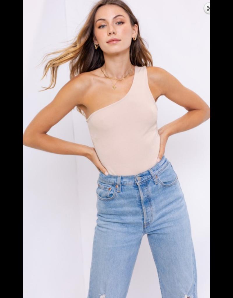 Tops 66 One Shoulder Solid Bodysuit