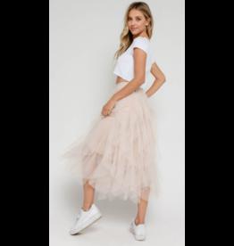 Skirts 62 Blush Tulle Midi Skirt