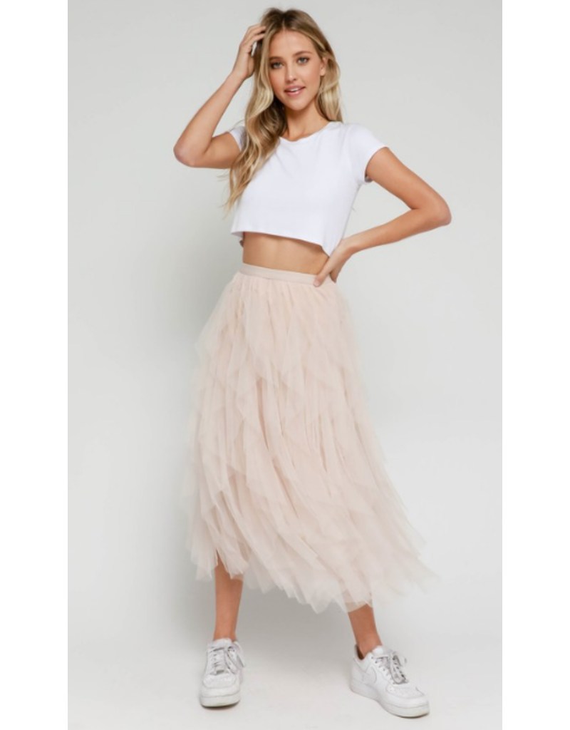 Skirts 62 Blush Tulle Midi Skirt