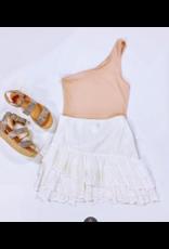 Skirts 62 Sweet White Ruffle Skirt