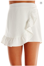 Skirts 62 Ruffle White Envelope Skort