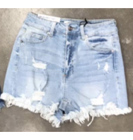 Shorts 58 Lighten Up Light Wash Distressed Denim Shorts