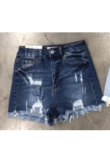 Shorts 58 Summer Sun Dark Wash Distressed Denim Shorts
