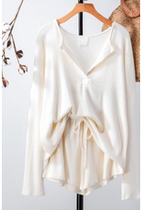 Tops 66 Cozy Comfy Ivory Two Piece Set