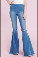 Pants 46 Medium Wash Rip Knee Flares