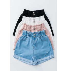 Shorts 58 Paper Bag High Waisted Denim Shorts