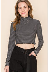 Tops 66 Make It Count Stripe Crop Top