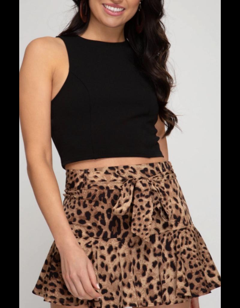 Skirts 62 Spot On Leopard Skort