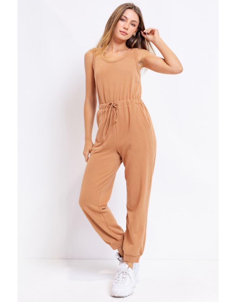 Jumpsuit Express Yourself Camel Jumpsuit