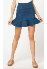 Skirts 62 Right One Ruffle Medium Denim Skirt