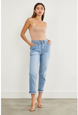 Pants 46 Back To Cool Pleated Mom Light Wash Denim