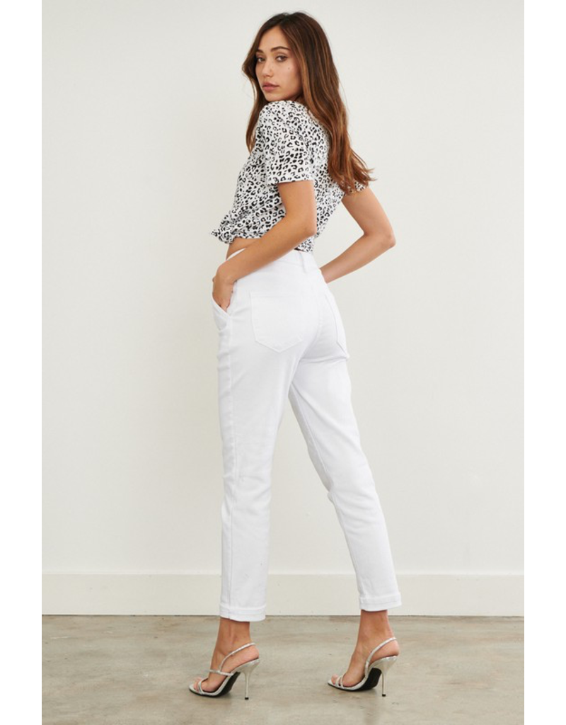 Pants 46 Back To Cool Pleated White Mom Denim