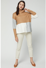 Tops 66 Color Block Combo Camel Sweater