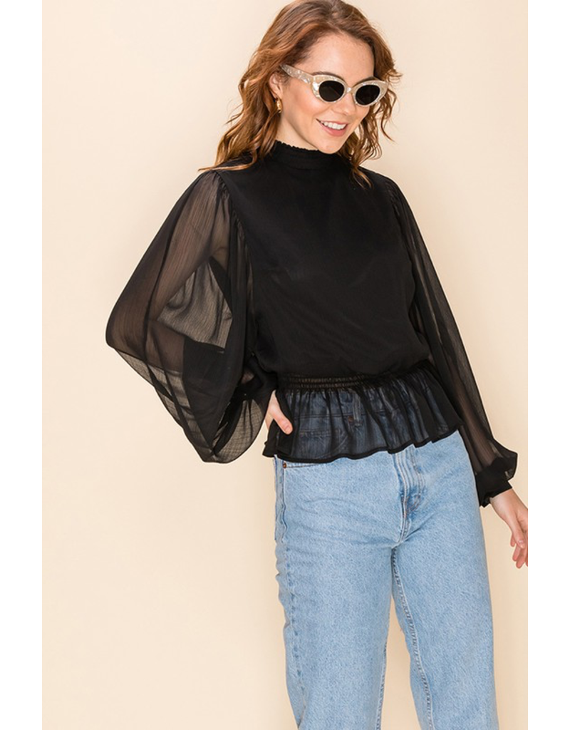 Tops 66 Sheer Details Top