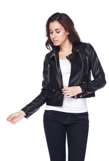 Outerwear Black Zip Bomber Jacket