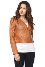 Outerwear Tan Zip Bomber Jacket