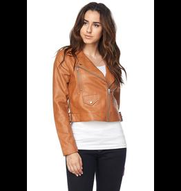Outerwear Tan Zip Bomber Jacket