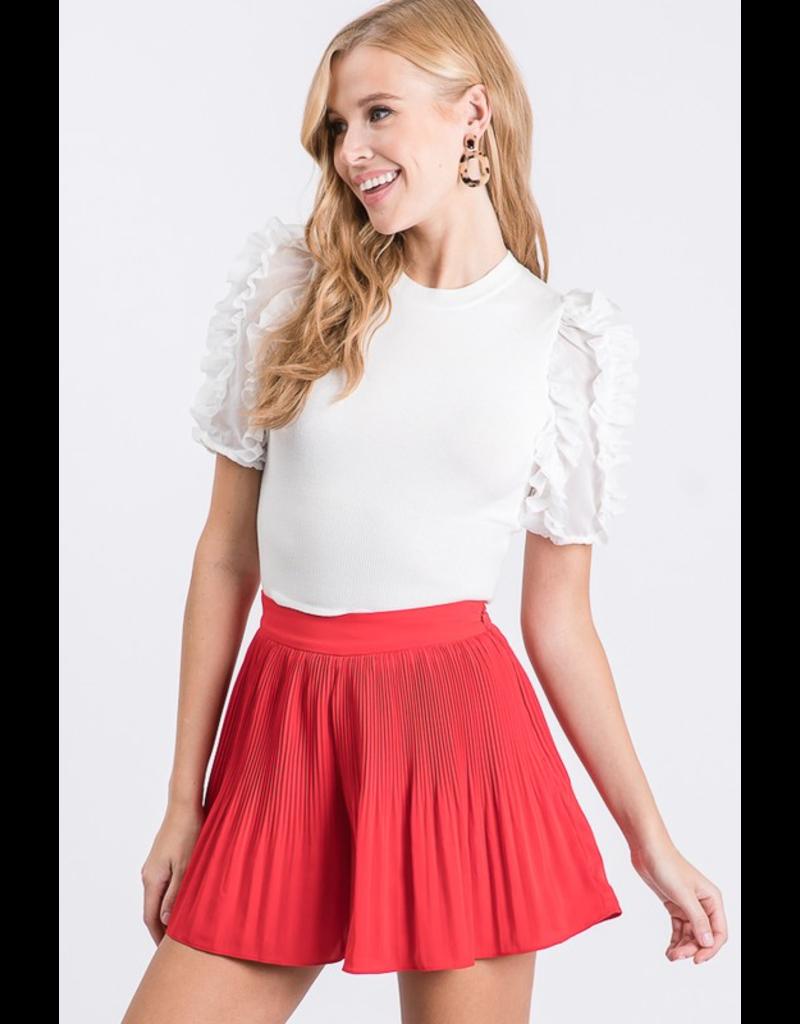 Skirts 62 Dressy Pleated Red Skort