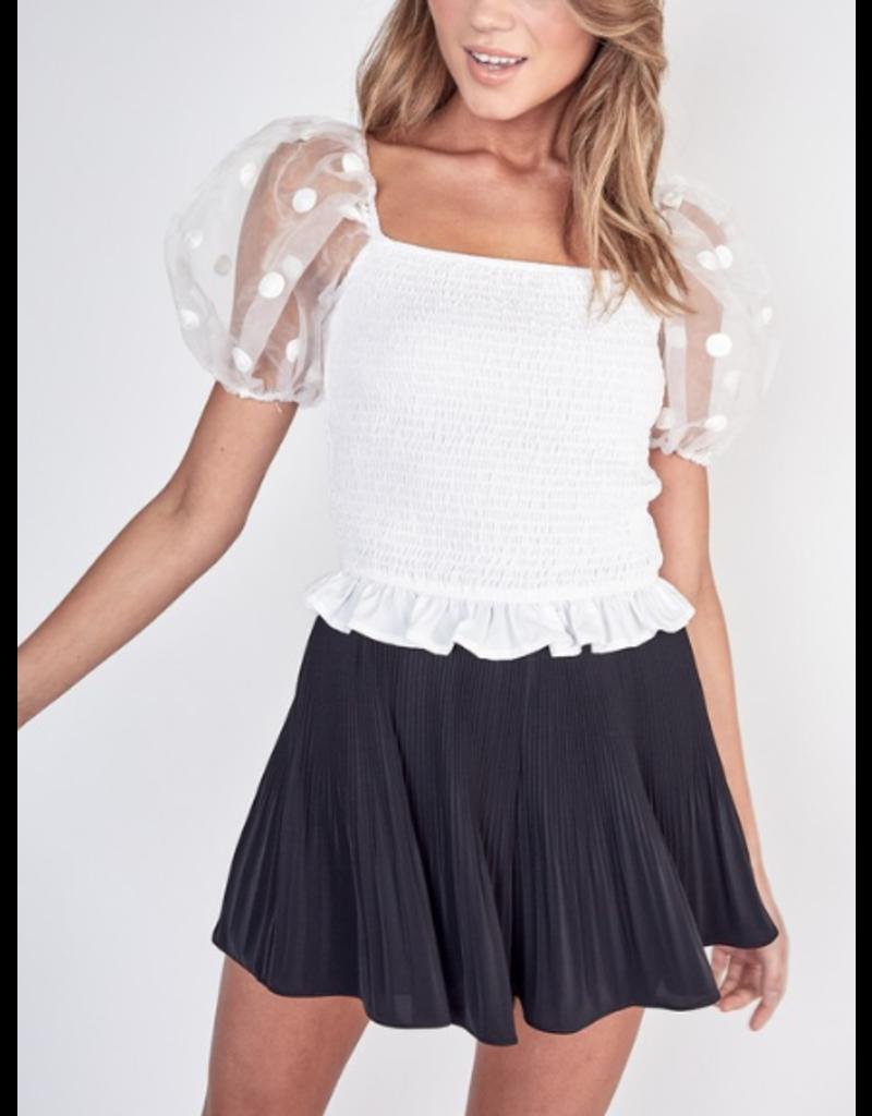 Skirts 62 Dressy Pleated Black Skort